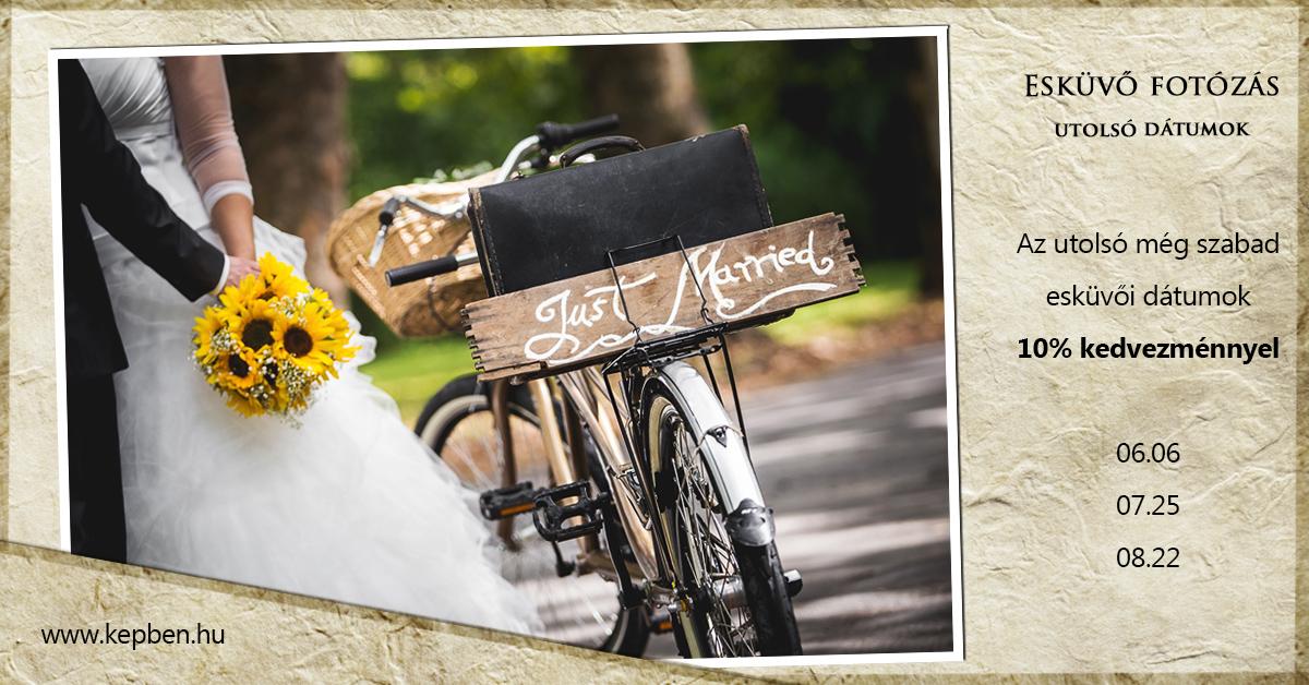 Esküvő fotózás kedvezmény